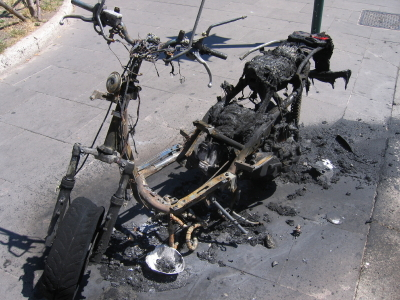 Motorcyle Theft - Crash And Burn