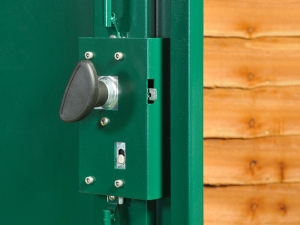 Make sure you have a good shed locking system