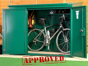 The Annexe Bike Shed is Insurance approved – saving you money!