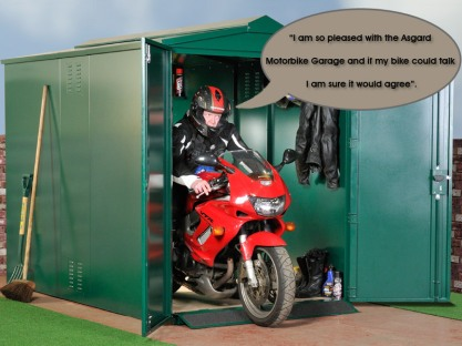 secure Motorbike Garage from Asgard.