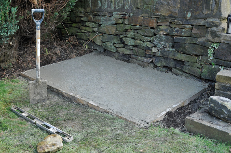 Garden shed foundation uneven ground Here ~ Sanglam