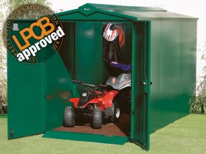 Secure quad bike storage