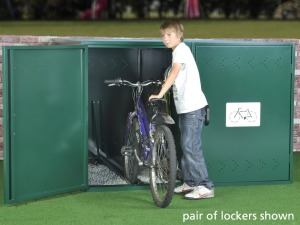 Asgard single bike locker