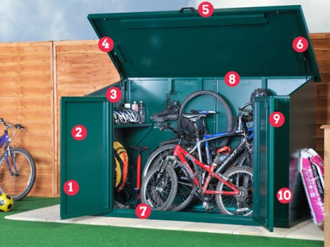 Asgard 4 bike storage features