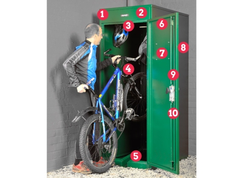 veritcal bike locker numbered copy