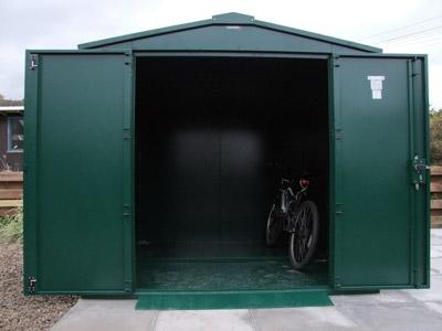 Asgard Bike garage at the Stanes